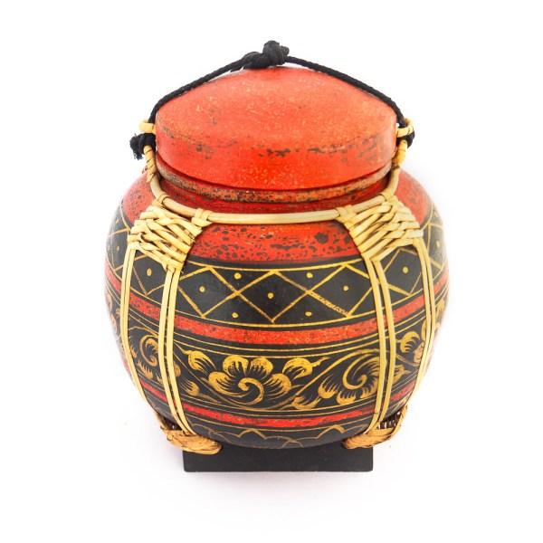 Handmade Asian Rice Basket Bamboo Online