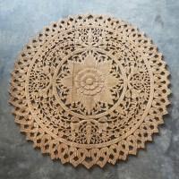 Buy Circle Thai Artifact Wood Carving Wall Sculpture, Wall ...