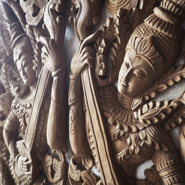 Thailand Carved Wood Panels Wall Art