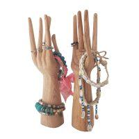 Buy Wooden Hand Sculptures Jewelry Holders in Pair Online