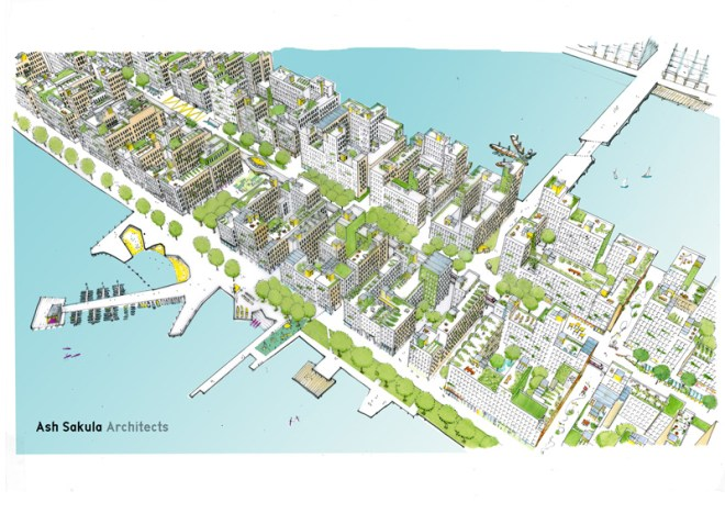 Ash Sakula visualisation of a new quarter on the City Airport site