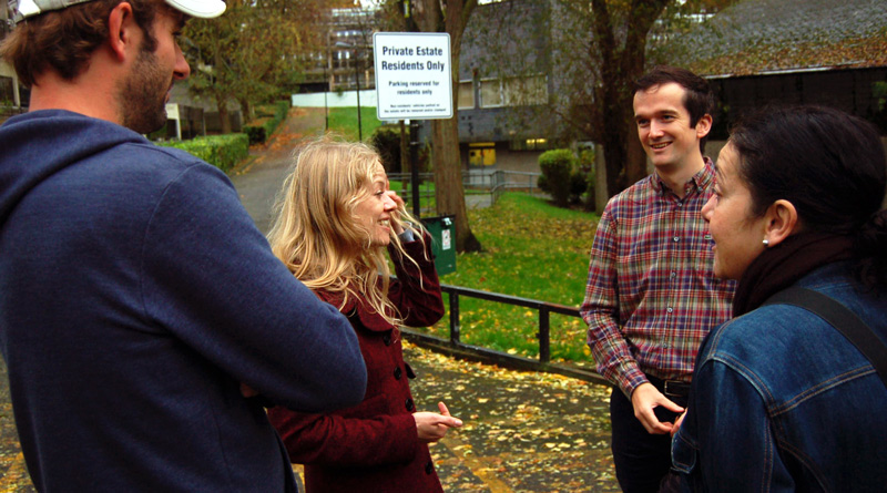 Sian and Tom Chance visit the Central Hill estate
