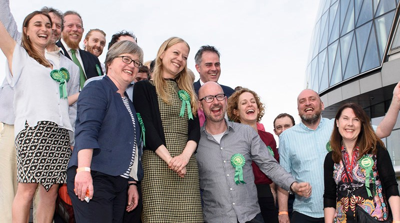 The Green team at City Hall for the count