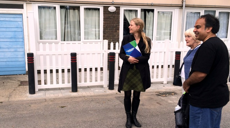 Sian Berry at the Cambridge Road Estate Kingston