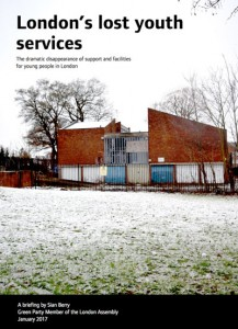London's lost youth services report cover