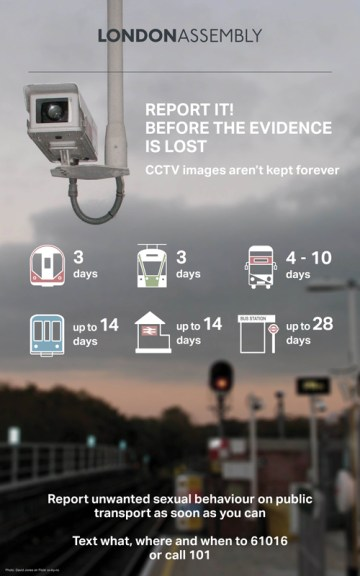 CCTV poster - report it before the evidence is lost