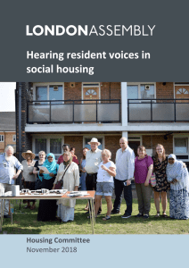 Hearing resident voices in social housing report cover