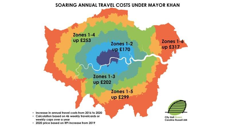Soaring annual fare rises under Mayor Khan