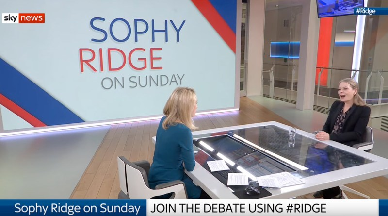 Sian Berry on Sky with Sophy Ridge 23 Feb 2020