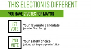 This election is different - you have TWO votes for Mayor
