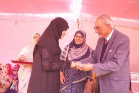 Princess Esin Girls' High School conducted its 17th Annual Sports Day at Quli Qutubshah Stadium on January 3. Prince Muffakham Jah Bahadur presented the gold medal to the topper Deeba Mazher. Ms. Ajeetha Begum, IPS in her speech emphasized on the importance of sports in students life.:Photo:Laeeq