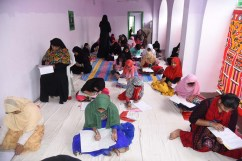 Mr. Zahid Ali Khan, Mr. Iftekhar Hussain, Shaista Ali, Professor Anwar Uddin, Mohammed Siddiq Mirza, Australia and others inspecting Mahboob Hussain Jigar Hall packed with children writing Siasat's Urdu Dani, Zaban Dani and Insha Exams conducted by Abid Ali Khan Educational Trust (Siasat) across the country held on Sunday 27 January from 10 am to 1 pm. Around 61,321 people participated at 378 centers in the city, 37 in districts and 29 in other state centers.:Photo:Laeeq