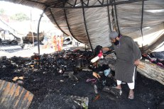 A sight of devastation and despair at Numaish, Hyderabad's annual exhibition on Wednesday evening after a massive fire broke out at around 9 pm and gutted close to 200 stalls that had been set up:Photo:Laeeq