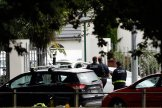 Security officials walk outside the Masjid al Noor mosque after a shooting incident in Christchurch on March 15, 2019. (AFP