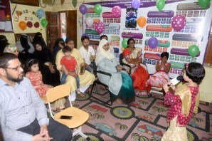"Charming Shrubs School celebrated first ""Graduation Day"" on 14th April 2019. The Chief Guest of the event was Shazia Tabassum, Principal, Greenwich Academy The School, Hyderabad. Chief Guest said that parents must cooperate with the management to get better results.Students of pre – Primary and primary classes delivered speeches on Islamic and leadership topics. Uzma Anjum, Principal of Charming Shrubs School was also present at the event. Director, Abid Mohiuddin expressed his views. Photo:Laeeq"
