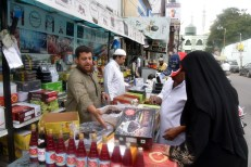 The market is full with varieties of dates (khajoor) especially chocolate khajoor gas become an all time favourite during the ensuing Ramzan.:photo:Laeeq