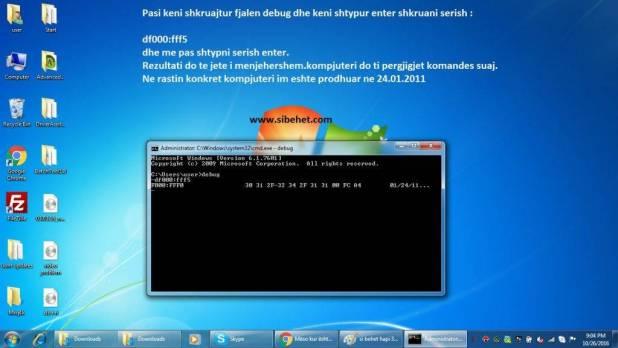 Kur eshte prodhuar kompjuteri im ? command prompt hapat