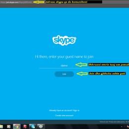 Si te perdorim Skype pa qene nevoja te kemi adrese identifikimi. Tutoriale shqip shfletues