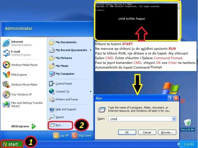 Cfare eshte ping. Si behet ping (Windows Xp & 7). Tutoriale shqip 2