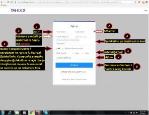 Si te hap nje adrese e-mail (Yahoo). si te hapim . Tutoriale shqip 2