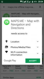 Navigator qe punon pa internet. Programe per telefona android. Harta e Shqiperise. 2