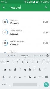 Navigator qe punon pa internet. Programe per telefona android. Harta e Shqiperise. 8
