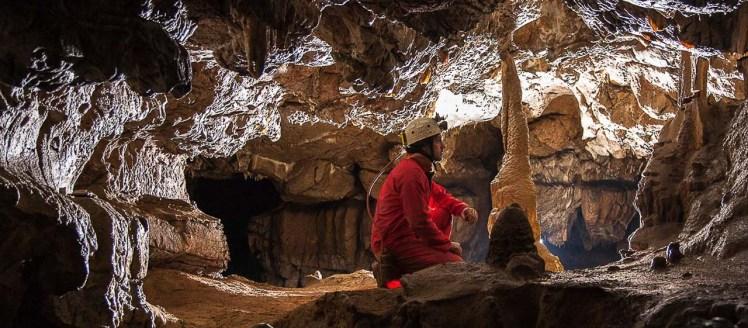 Spéléologie Siech Ariège salle réseau fossile