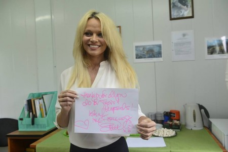 Памела Андерсен посетила Россию