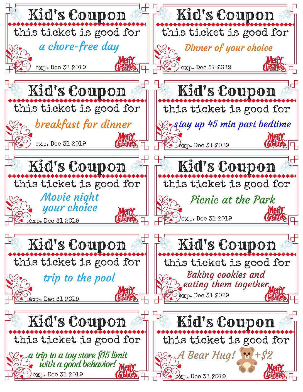 Kid S Coupons For Christmas 2018