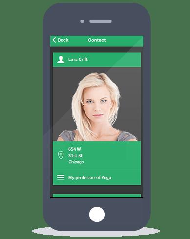 Siberian CMS App Maker's Contact feature