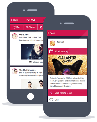 Siberian CMS App Maker's Fan Wall feature