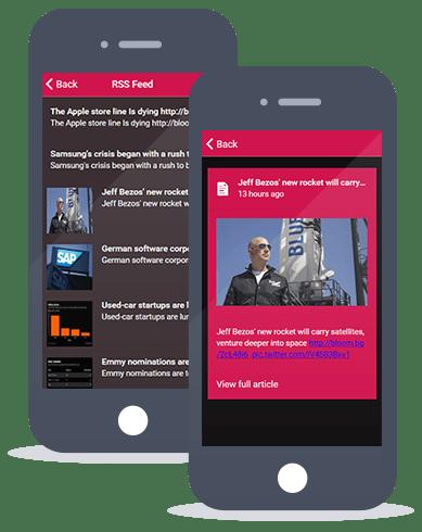 Siberian CMS App Maker RSS feed feature