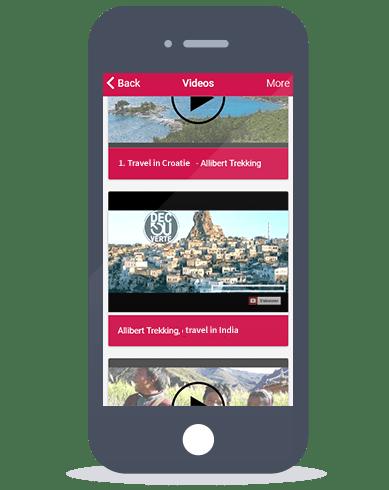 Siberian CMS App Maker's Video feature