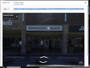 How to embed a Google virtual tour on Facebook Step 4-2