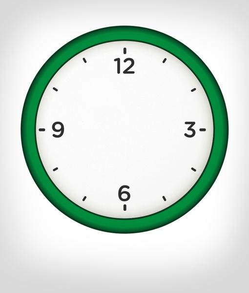 Reloj de Pared Verde Personalizado  Sibuts