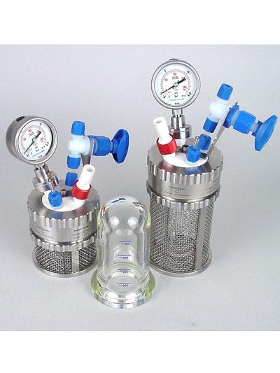reactor a presion de metal miniclave marca buchiglasuster sica medicion