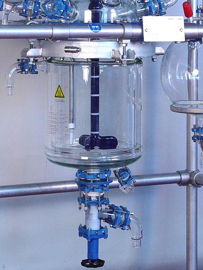 reactor piloto de vidrio chemreactor gr rendimiento sica medicion
