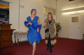 Pam and Gwynith from the Resource Centre show great style