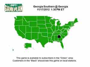 GSU-UGA Blackout Map