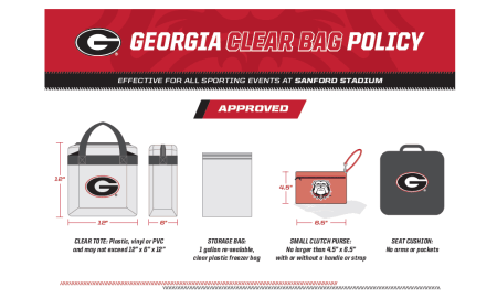 UGA Clear Bag Policy