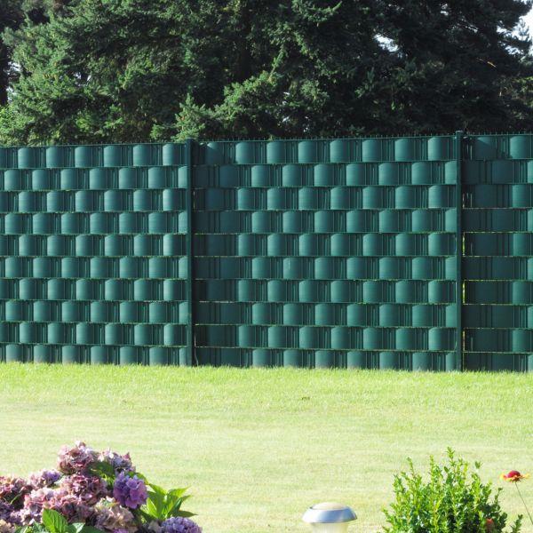 Sichtschutzstreifen Hart Pvc Woodline Grun