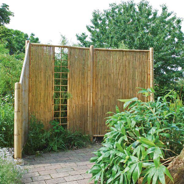 sichtschutzwand bambus zen spalier
