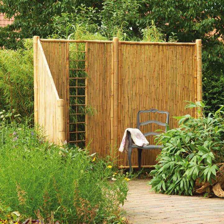 terrassen sichtschutz naturmaterial sichtschutzwande aus holz bambus weide