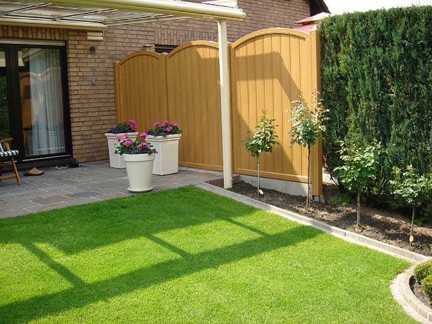 garten ideen reihenhausgarten sichtschutz | moregs, Gartenarbeit ideen