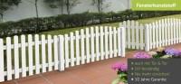 Gartenzaun aus Kunststoff in Weiss