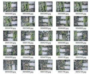 Singoli fotogrammi del nostro rilievo effettuato con il drone