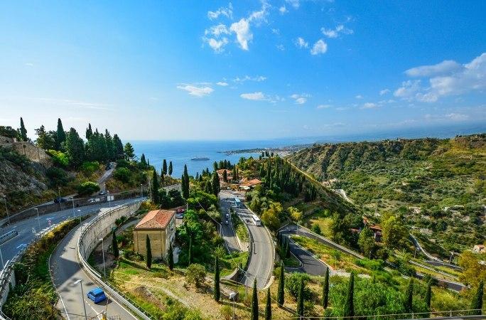 Route vers Taormina
