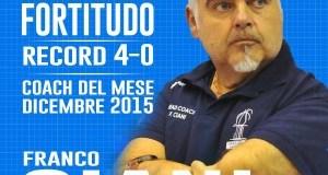 Franco Ciani, allenatore del mese dicembre 2015