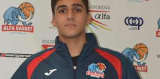 L'Under 16 Gabriele Patanè all'esordio con l'Alfa