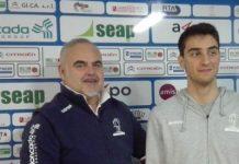 Ruben Zugno con coach Franco Ciani, entrambi rimasti alla Fortitudo Ag